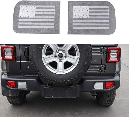 4*Interior Door Handle bowl sticker trim Matte US Flag For 2018 Jeep Wrangler JL