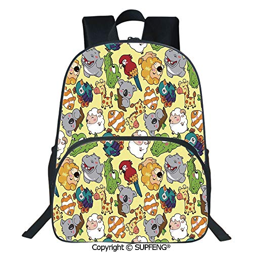 Crocodile Leather Pencil Cup - SCOXIXI Laptop Backpack Funny Animals Hippo Giraffe Koala Parrot Crocodile Zoo Jungle Kids Nursery Graphic (15.75