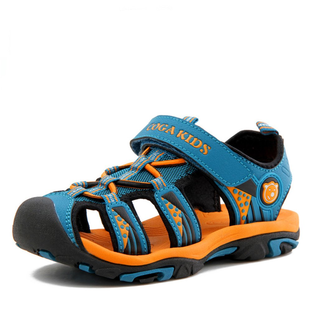 Puxel Boys Girls Big Little Kid Toddler Summer Closed Toe Sandals Sea Blue 34 2.5 M US Little Kid