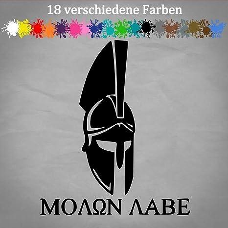 Generic The Punisher Molon Labe 14x12cm Greek Griechenland Aufkleber Waffen Tuning Jdm In 18 Farben Auto