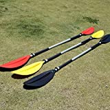 Autohelena/220cm Long Combined Double Ended Aluminum Portable Detachable Afloat Unsinkable Oars Paddles for Inflatable Boat Kayak(Red)