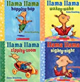 img - for Llama Llama Board Book Pack by Anna Dewdney : Llama Llama Hoppity-Hop, Llama Llama Nighty-Night, Llama Llama Wakey-Wake, and Llama Llama Zippity-Zoom (Llama Llama) book / textbook / text book