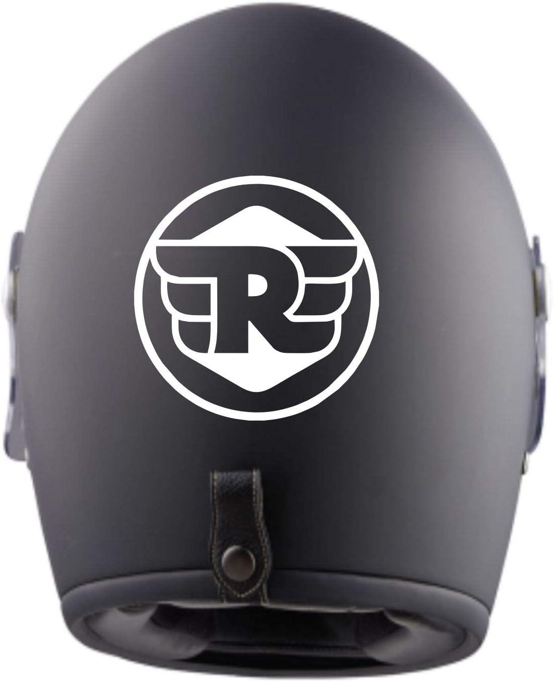 myrockshirt 2X Royal Enfield Logo Logo Helmaufkleber Aufkleber f/ür Motorrad Bike Roller Mofa Sticker Decal Tuningaufkleber