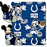 Officially Licensed NFL Indianapolis Colts Co-Branded Disney's Mickey Hugger and Fleece Throw Blanket Set