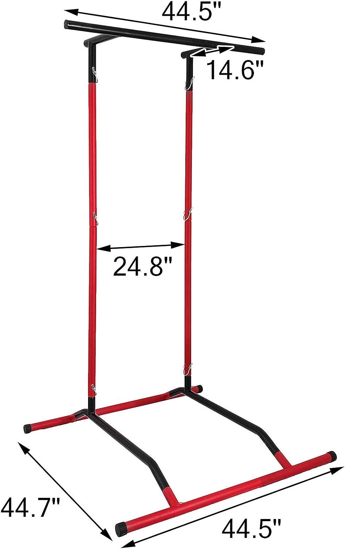 VEVOR Power Tower de Pull-up 100kg Estaci/ón de Musculaci/ón 100kg Multiestaci/ón con Barra de Dominadas Torre de Gimnasio Entrenamiento Multifuncional Estacion Dominadas Negro y Rojo