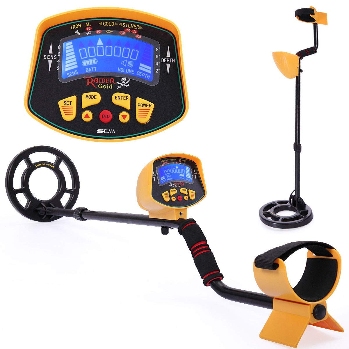Selve Automatic Day Night Metal Detector Gold Digger Light Hunter LCD Display – Adjustable Reliable Deep Sensitive Heavy Duty Waterproof | for Shallow Water ...