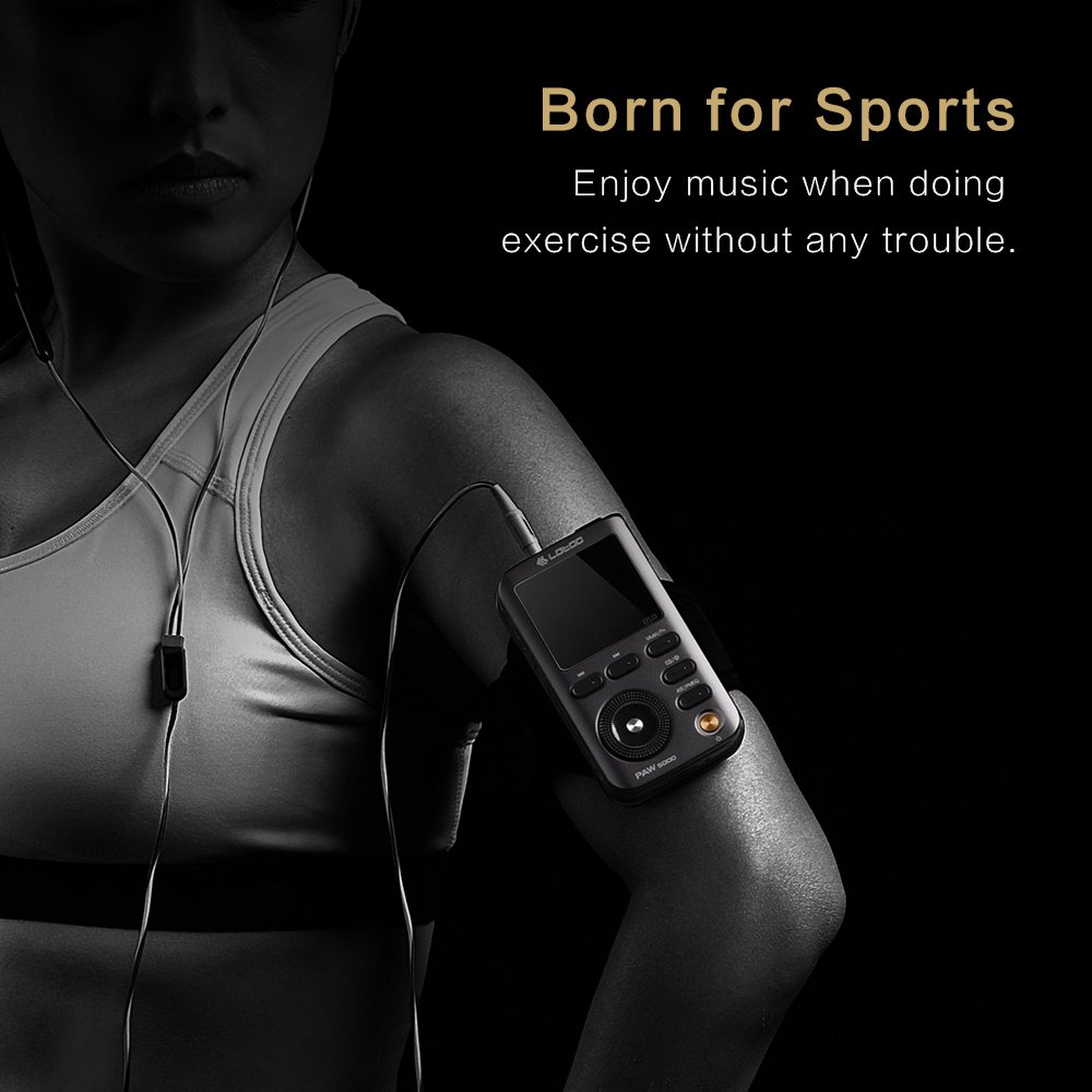 Lotoo PAW 5000 Digital Audio Player with Silicone Case, 32GB Micro SD Card as Gift, HiFi Sports Clip Wearable Portable Lossless Music Player with Bluetooth, DSD Playback, USB 3.0, 2TB Max Storage by LT LOTOO (Image #3)