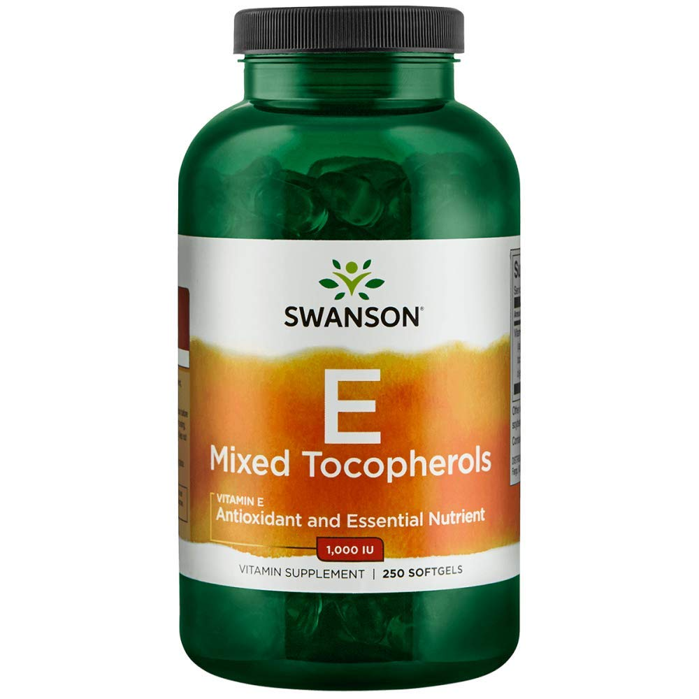 Swanson Vitamin E Mixed Tocopherols 1000 Iu (671.1 Milligrams) 250 Sgels