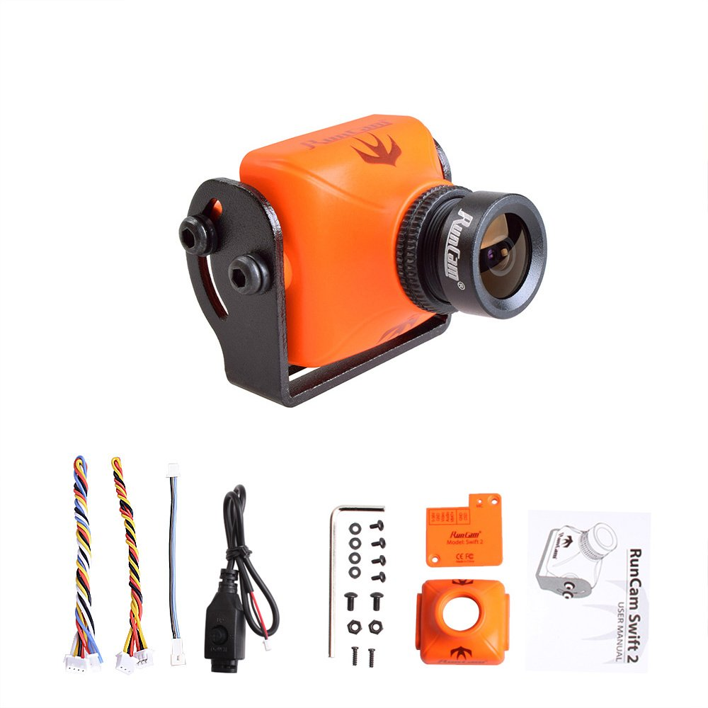 RunCam Swift 2 600TVL FPV Camera Integrated OSD 2.3mm Lens DC 5-36V Support Audio by RunCam