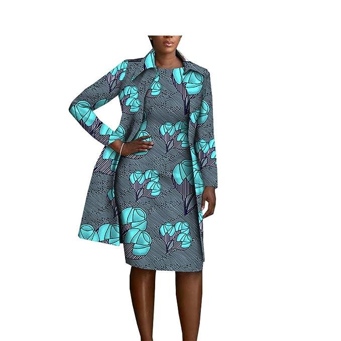 Amazon.com: Juego de ropa africana de 2 piezas para mujer ...