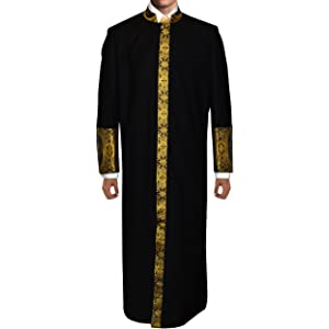 Black Robe with Gold Embroidery and Matching Stole at Amazon Women s ... aa294cf2c