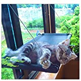 Cat Bed Window Hammock Perch with Blanket Kitty Sunny Seat Cradle Mat Pet Perch Bedding Window Mounted Lounge Animal Pet Cot Window Seat Nest Gift Heavy Duty Suction Cups Holds Up 50lb by JingStyle