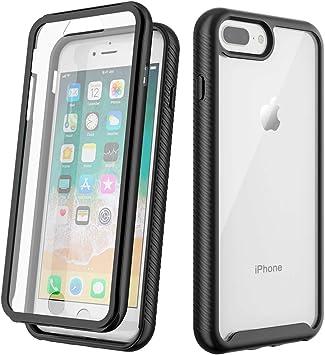 OCYCLONE Funda iPhone 8 Plus, Funda iPhone 7 Plus, 360 Grados Funda Antigolpes Carcasa con Protector de Pantalla Integrado, Transparente Protectora Case para Apple iPhone 7 Plus/ 8 Plus 5,5 Pulgadas: Amazon.es: Electrónica