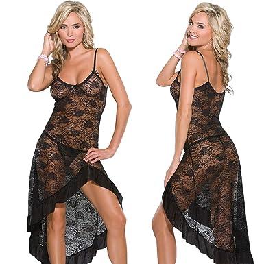 Damen-nachtwäsche Sexy Lange Nachthemden Transparenter Mesh Nacht Kleid Erotische Langes Dessous Frauen Sexy Nachtwäsche Nachtwäsche Für Frauen Plus Größe Unterwäsche & Schlafanzug
