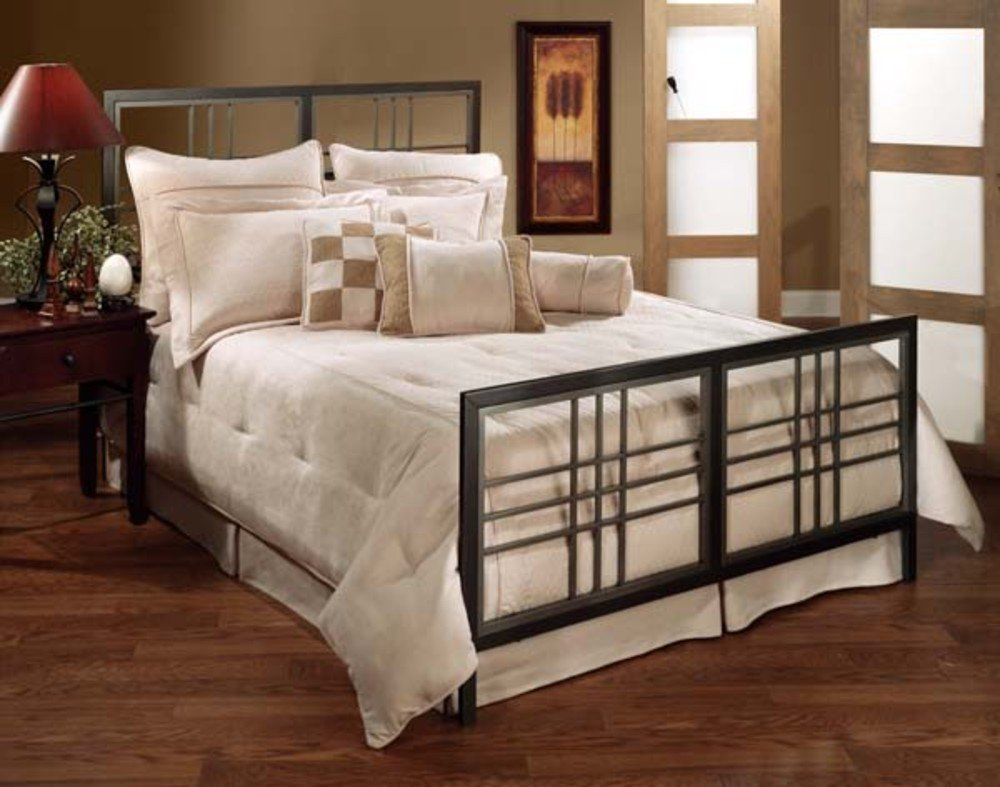 Hillsdale Furniture 1334-500 Tiburon Bed Set - Queen - Rails not included Magnesium Pewter