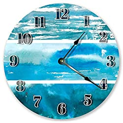 10.5 BLUE OCEAN ABSTRACT CLOCK - Large 10.5 Wall Clock - Home Décor Clock