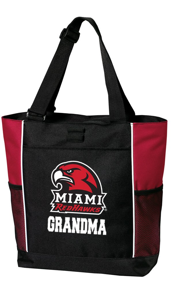 Broad Bay Miami University Grandma Tote Bags Red Miami Redhawks Grandma Totes Beach Travel