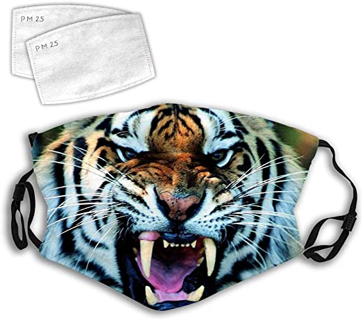 A tiger with a roar Anti-Dust Anti-Pollution Windproof Cover