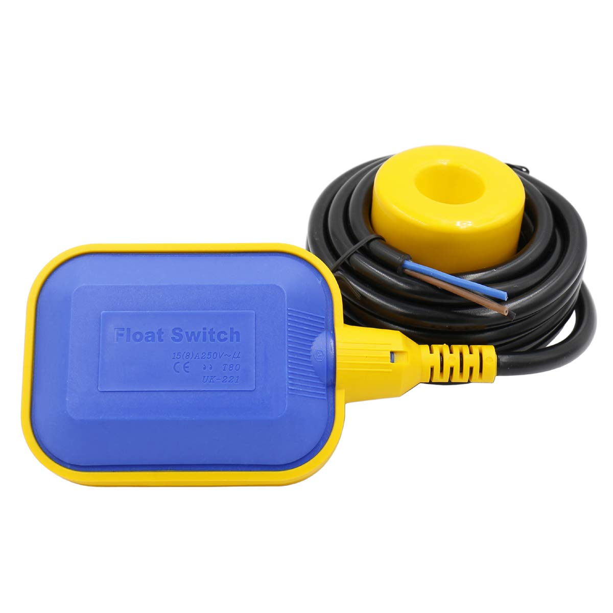 Heschen Float Switch 4M Cable Water Level Controller for Water Tank, Sump Pump