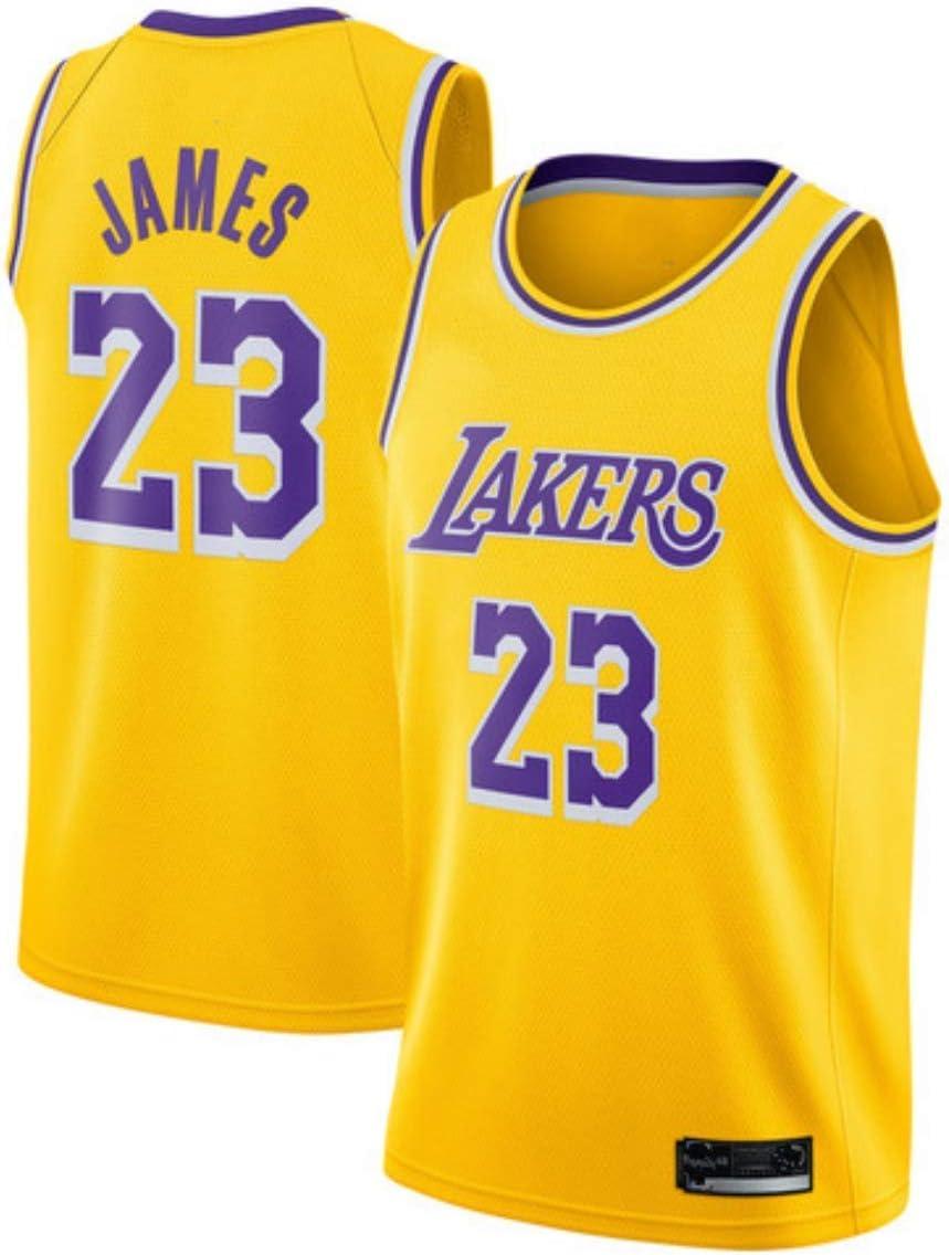 SansFin NO.23 Lebron James, Jersey de Baloncesto, Lakers, Nuevo Tejido Bordado, Estilo de Ropa Deportiva