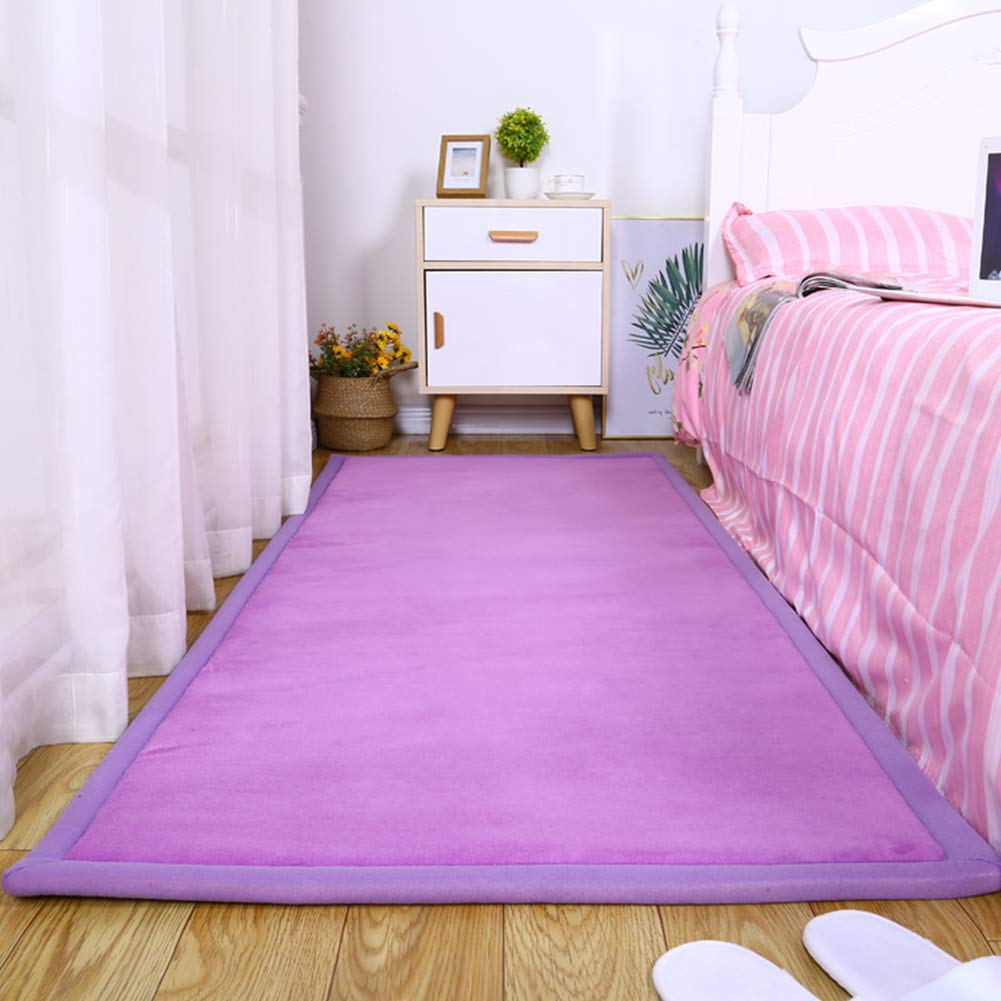 Purple 80x160cm Baby Play Mat Crawling Mat Folding Thickening Anti fall Carpet Floor Mat Non Slip Various Sizes,Purple,80x160cm