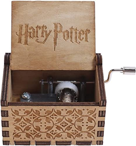 NELNISSA Harry Potter Caja de música grabada de madera caja de ...