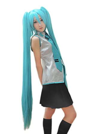 Peluca Senbonzakura Hatsune Miku Azul Mezclar verde recta ...