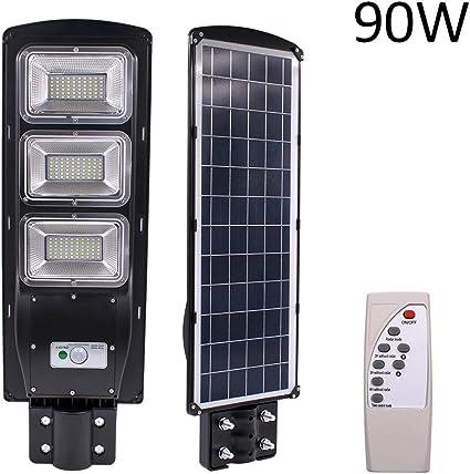 90W 180LED Solar Street Wall Light Motion Sensor Outdoor Garden Lamp+Mount Pole