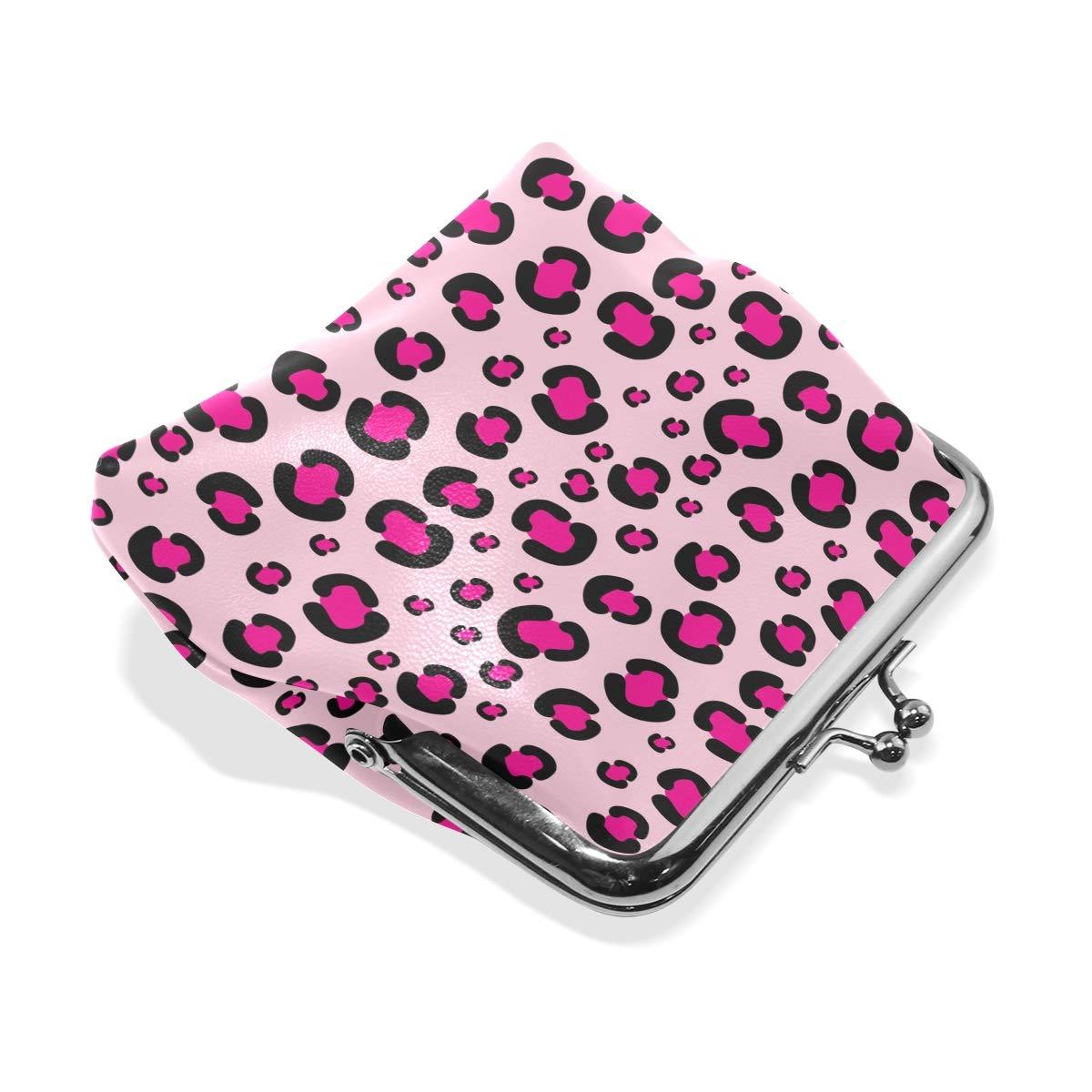 Amazon.com: JERECY - Monedero de piel, diseño de leopardo ...