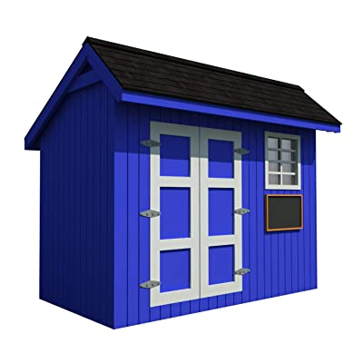 Playhouse Plans DIY Backyard Storage Shed Workshop Mini Kids Cottage Guest House: Home Improvement