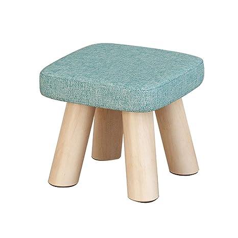 Amazon.com: Taburete de madera acolchado para niños con ...
