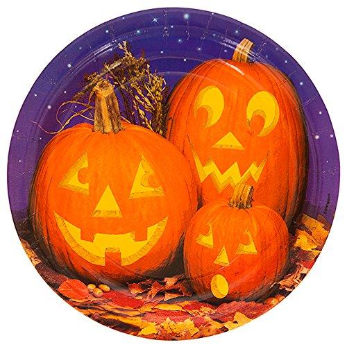 Real Pumpkins Halloween Dessert Plates, 8ct -