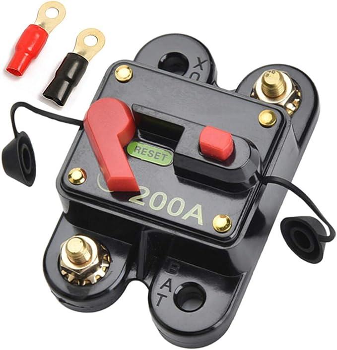 Qiorange 12v 200a Automatische Sicherung Schalter Für Auto Kfz Lkw Boot Type K 1 Stück Auto