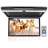 Car Overhead Monitor Screen Display - 17.3 inch. LCD Vehicle Flip Down Roof Mount Console - HDMI TV Player Control Panel…