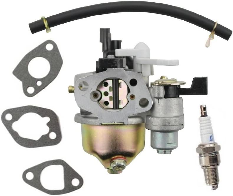 Janrui New Carburetor Carb for Harbor Freight Central Machinery 6.5HP Gasoline Plate Compactor 66571 69086 69738 98963 Engine with Spark Plug gaskets