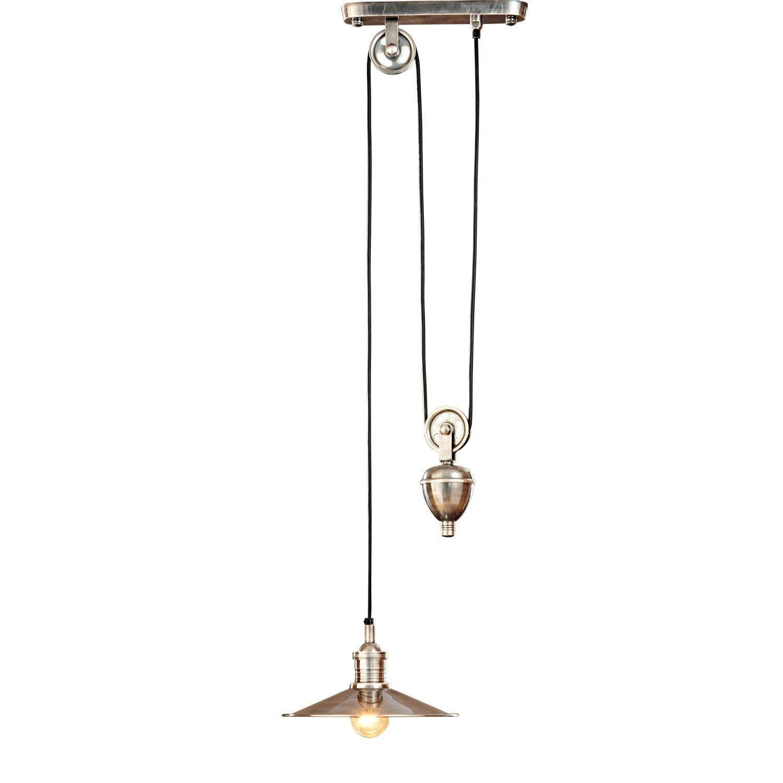 LOBERON Hängelampe Talida, Messing, H B T ca. 115 115 115 35   28 cm, antiksilber, Energieeffizienzklassen A++ bis E ae98a1