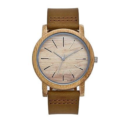 Leizhi Pareja Natural de bambú Reloj-Madera Reloj-Hecho a Mano Hombres tamaño Respetuoso