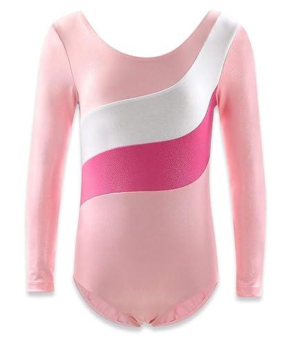 0a565face Amazon.com   Gymnastics Leotards for Girls Ballet Dance Biketards ...