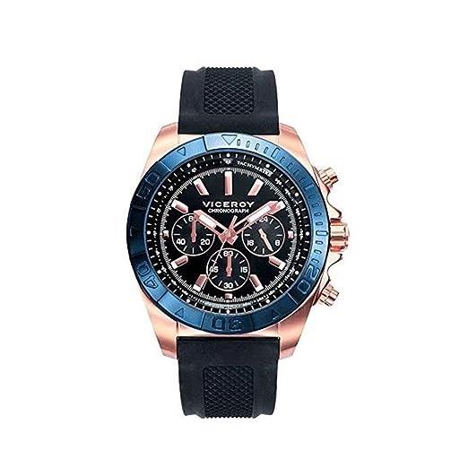 Amazon.com: hule Hombre Reloj Viceroy 471039 – 57 Acero IP ...