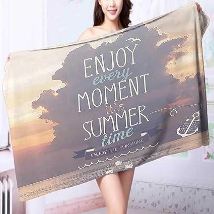Amazon com: PRUNUS Luxury Elegant Bath Towels Quotes