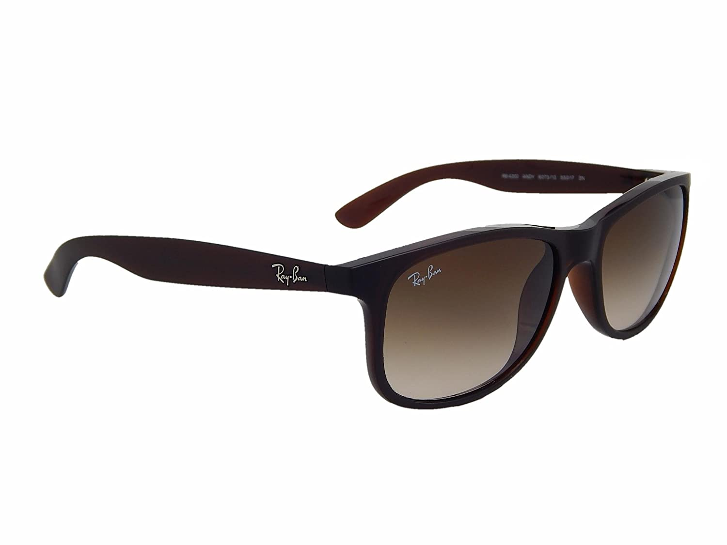 c36da69db9 Amazon.com  New Ray Ban Andy RB4202 607313 Brown  Brown Gradient 55mm  Sunglasses  Clothing