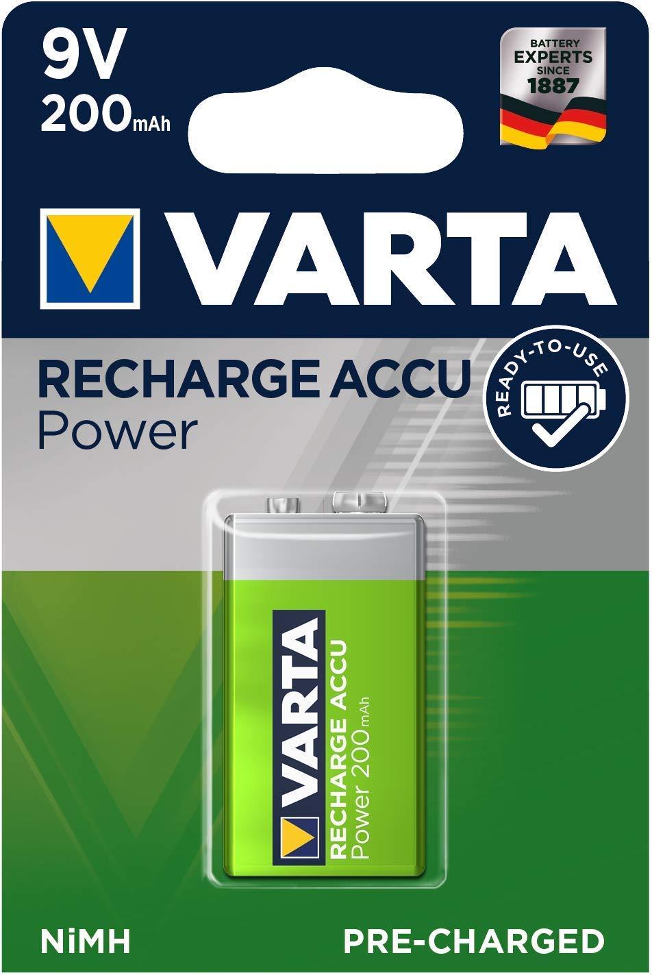 Varta- ACCU Pilas Recargables Pack 2 Color Verde y Plateado 5670601402
