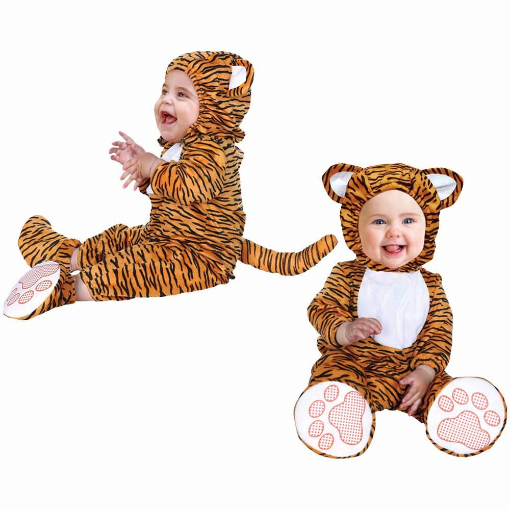 4Home Infant Tiger Halloween Costume - Cute & Cuddly - Unisex - Size Large - 31.5-35.5 inches by 4Home