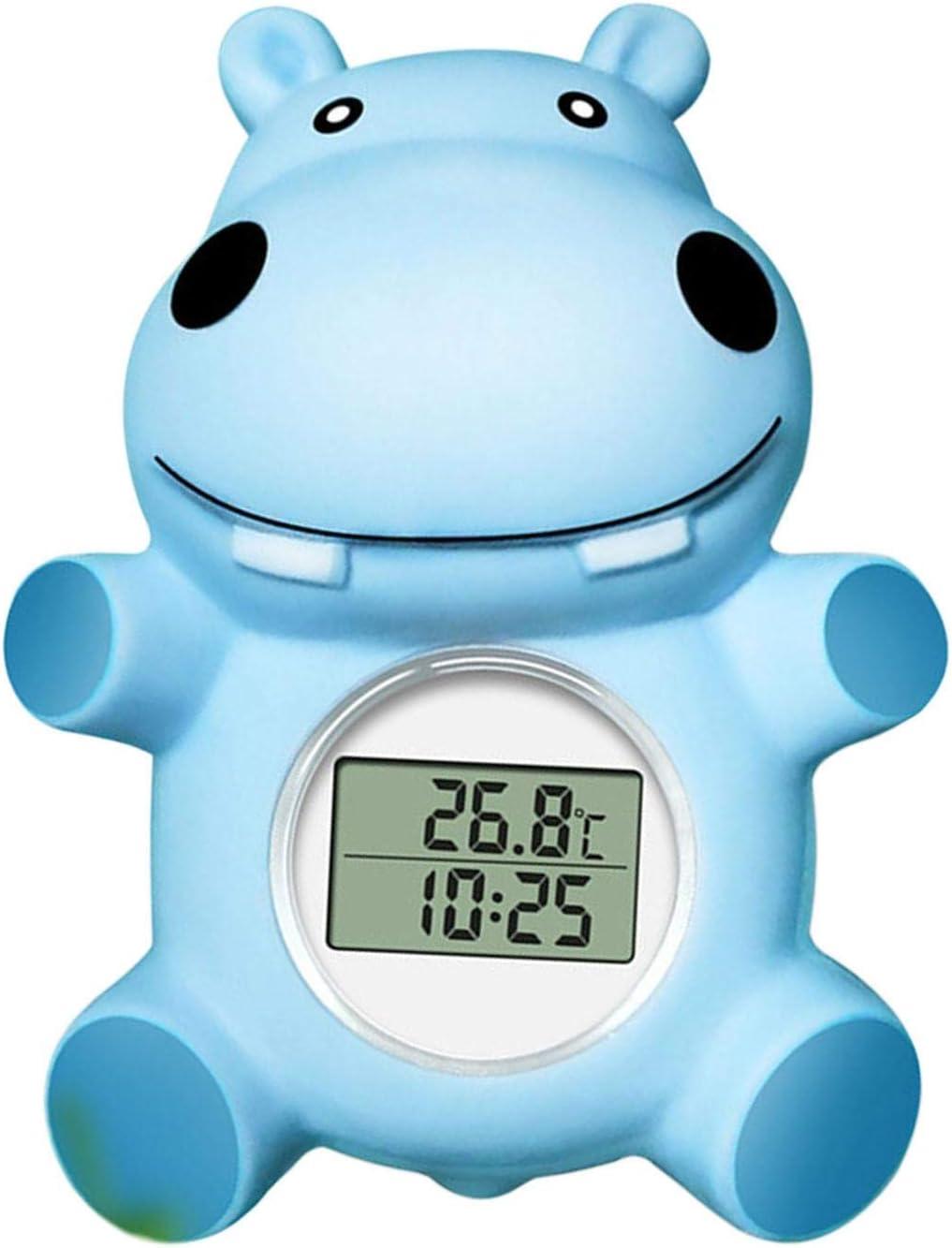Nrkin Termómetro de baño y habitación para bebés Juguete Flotante para bañera Infantil y Piscina Termómetro de Temperatura del Agua de Seguridad Lovely Hippo Disponible para Fahrenheit y Celsius