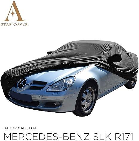 Autoabdeckung Schwarz Passend FÜr Mercedes Benz Slk Class R171 Mit Spiegeltaschen Wasserdicht Aussen Vollgarage Im Freien Cover Schutzdecke Auto