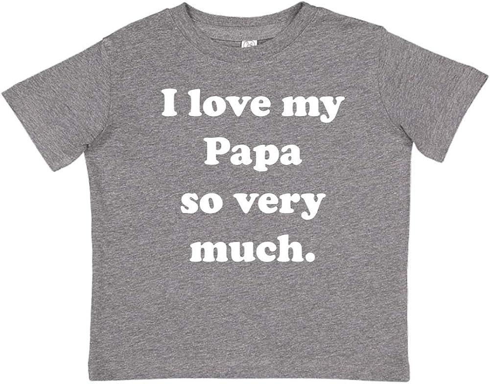 Toddler//Kids Short Sleeve T-Shirt I Love My Papa So Very Much