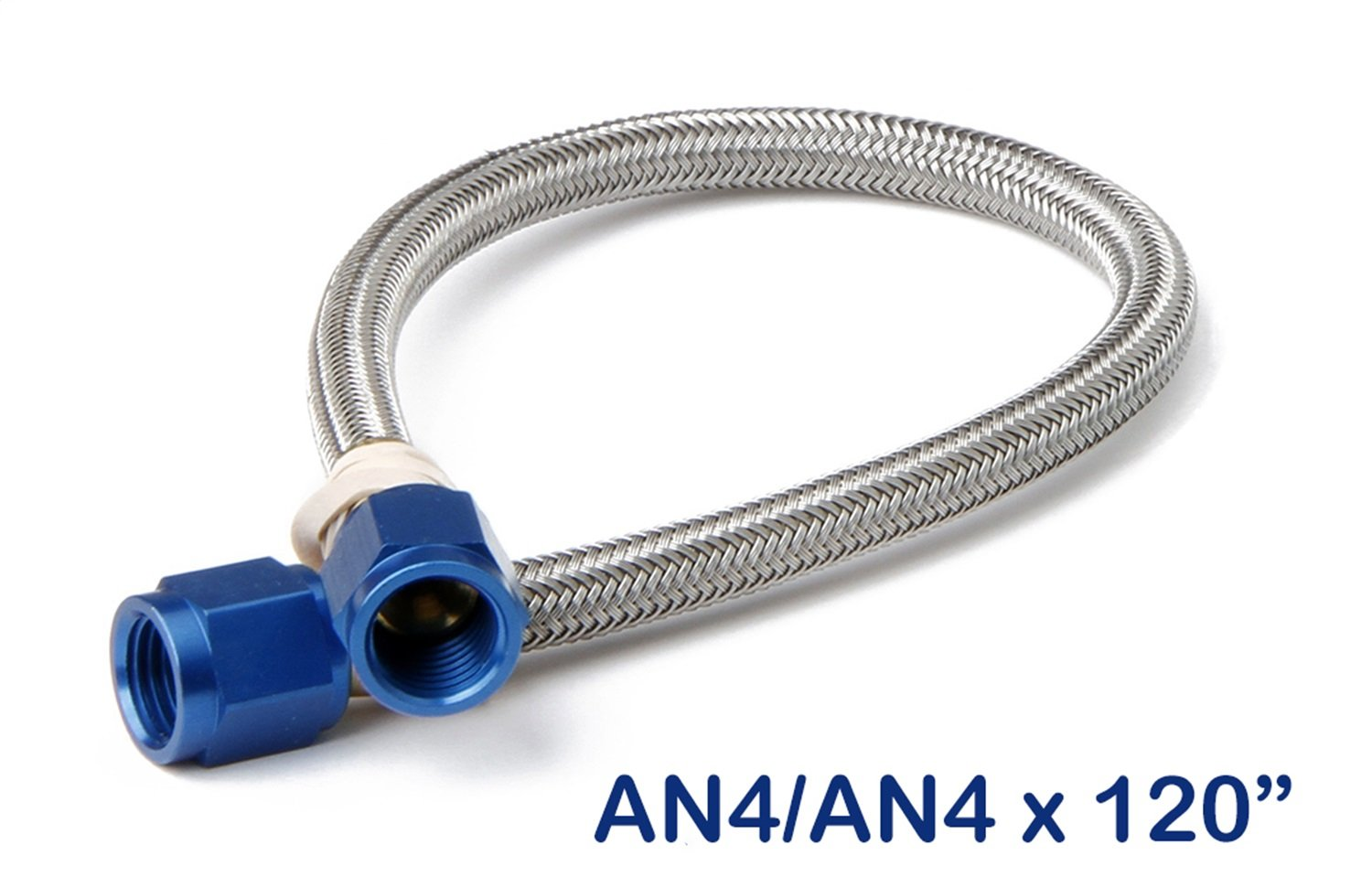NOS 15280NOS Stainless Steel 4AN Braided Hose 10 Feet NOS//Nitrous Oxide System