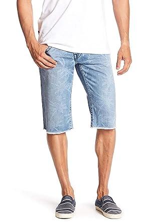 978006c31 True Religion Men s Straight Leg Denim Palm Monogram Cut-Off Shorts w Flaps  in