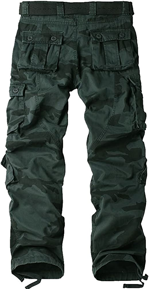 BDU Tactica Camo Military Army Black Wild Combat Pants for ...