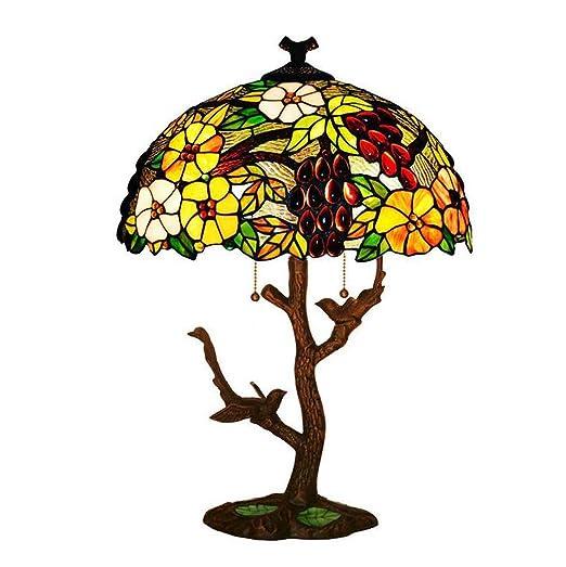Glight Lámpara de Mesa de Estilo Tiffany, lámpara de Escritorio ...